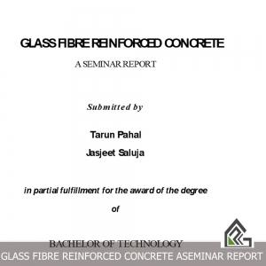GLASS FIBRE REINFORCED CONCRETE ASEMINAR REPORT